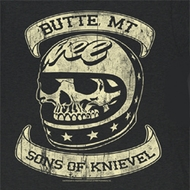 Evel Knievel Shirt Sons of Knievel Adult Black Tee T-Shirt