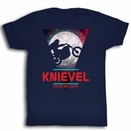 Evel Knievel Shirt Stratosphere Navy Blue T-Shirt