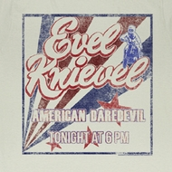 Evel Knievel Shirt Tonight Adult Dirty White T-Shirt