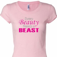 Every Beauty Needs a Beast Ladies Fitness Shirts