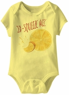 Ex-Squeeze Me! Funny Baby Romper Yellow Infant Babies Creeper