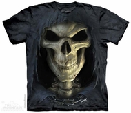 Face Of Death Shirt Tie Dye Adult T-Shirt Tee