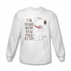 Family Guy Shirt Pick It Up Long Sleeve White Tee T-Shirt