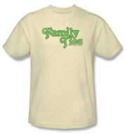 Family Ties Kids Shirt Logo Youth Cream T-Shirt