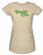 Family Ties Shirt Logo Juniors Cream Tee Shirt