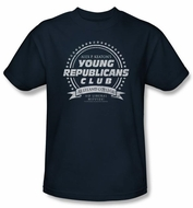 Family Ties Shirt Young Republicans Club Navy Tee Shirt