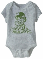 Feeling Lucky Funny Baby Romper Grey Infant Babies Creeper