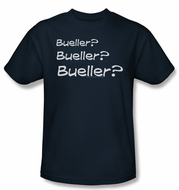 Ferris Bueller's Day Off Bueller? Shirt Adult Navy Blue Tee T-Shirt