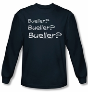 Ferris Bueller's Day Off Shirt Bueller? Long Sleeve Navy Blue Tee T-Shirt