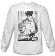 Ferris Bueller's Day Off Shirt Cameron Long Sleeve White Tee T-Shirt