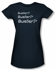 Ferris Bueller's Day Off Shirt Juniors Bueller? Navy Blue Tee T-Shirt