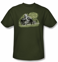 Ferris Bueller's Day Off Shirt Mr. Rooney Adult Green Tee T-Shirt
