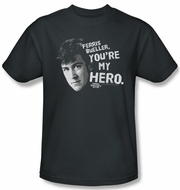 Ferris Bueller's Day Off Shirt My Hero Adult Charcoal Tee T-Shirt
