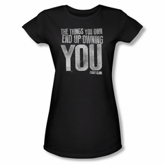 Fight Club Shirt Juniors Owning You Black Tee T-Shirt
