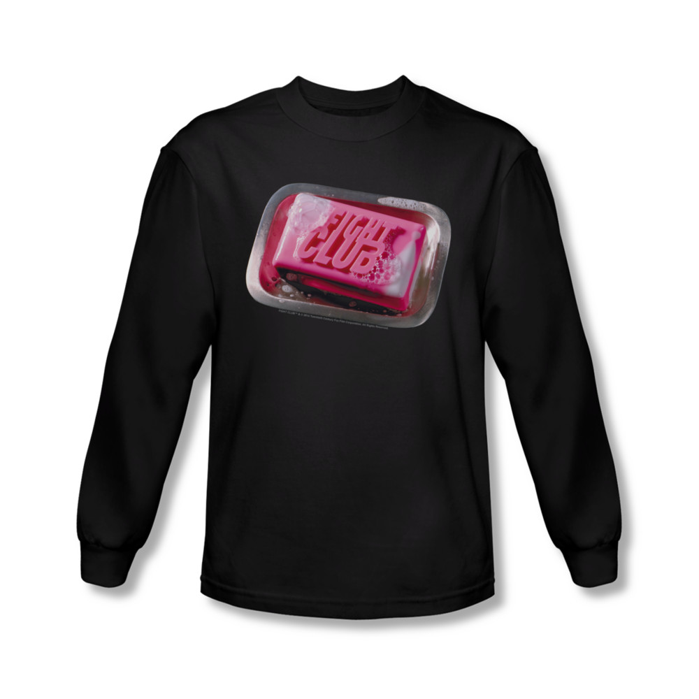 Fight club shirt soap long sleeve black tee t shirt for Best detergent for dress shirts