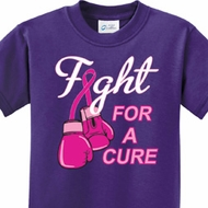 Fight For a Cure Kids Breast Cancer Awareness Shirts