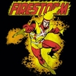 Firestorm Juniors T-shirt - DC Comics Black Tee