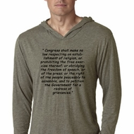First Amendment Lightweight Hoodie Shirt