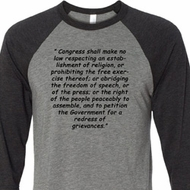 First Amendment Mens Raglan Shirt