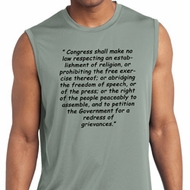 First Amendment Mens Sleeveless Moisture Wicking Shirt