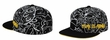 Fitted 3D Time Is Money Flat Visor Hat Cap - Black