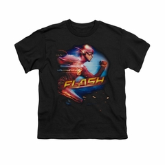 Flash Shirt Kids Fastest Man Black T-Shirt