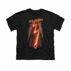 Flash Shirt Kids Lightning Bolt Black T-Shirt
