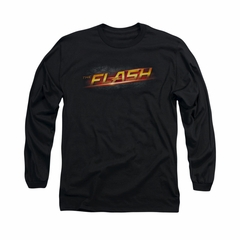 Flash Shirt Logo Long Sleeve Black Tee T-Shirt