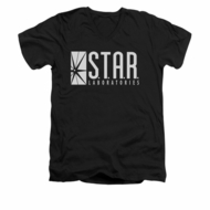 Flash Shirt Slim Fit V-Neck Star Labs Black T-Shirt