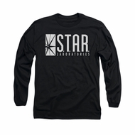 Flash Shirt Star Labs Long Sleeve Black Tee T-Shirt