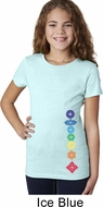 Floral Chakras Bottom Print Girls Yoga Shirts