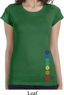 Floral Chakras Bottom Print Ladies Yoga Shirts