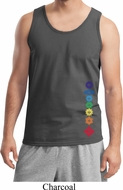 Floral Chakras Bottom Print Mens Yoga Shirts