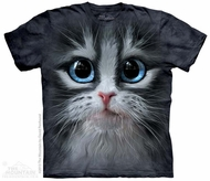 Fluffy Blue Eyed Kitten Shirt Tie Dye Adult T-Shirt Tee