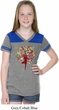 Foliage Tree Pose Girls Football Shirt
