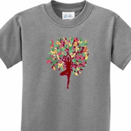 Foliage Tree Pose Kids Yoga Shirts