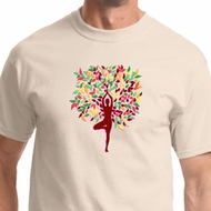 Foliage Tree Pose Mens Yoga Shirts