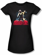 Forbidden Planet Juniors Shirt Warner Bros Robby And Woman Black Tee