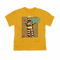 Forbidden Planet Shirt Kids Oil Job Gold T-Shirt
