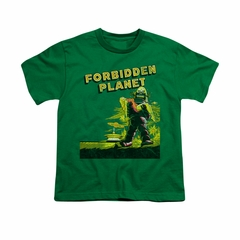 Forbidden Planet Shirt Kids Old Poster Kelly Green T-Shirt