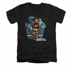 Forbidden Planet Shirt Slim Fit V-Neck Robby Black T-Shirt