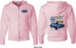 Ford 1967 Mustang (Front & Back) Full Zip Hoodie