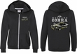 Ford 1974 Cobra Profile (Front & Back) Ladies Full Zip Hoodie