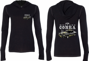 Ford 1974 Cobra Profile (Front & Back) Ladies Tri Blend Hoodie