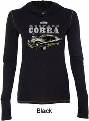 Ford 1974 Cobra Profile Ladies Tri Blend Hoodie Shirt