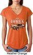 Ford 1974 Cobra Profile Ladies Tri Blend V-Neck Shirt