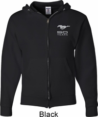 Ford 50 Years Pocket Print Mens Full Zip Hoodie