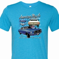 Ford American Muscle 1967 Mustang Mens Tri Blend Crewneck Shirt