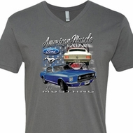 Ford American Muscle 1967 Mustang Mens V-Neck Shirt
