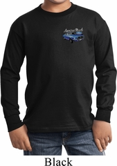 Ford American Muscle 1967 Mustang Pocket Print Kids Long Sleeve Shirt